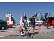Reidar Borgersen før start, sykkel-VM 2014
