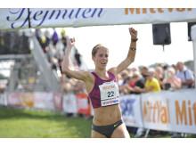 Charlotta Fougberg kom tvåa på 33:50