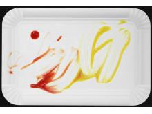 """Christoffer Munch Andersen: """"Rødt og gult på hvid"""" (Red and yellow on white)"""