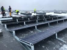 Scanofficen aurinkovoimalan asennus Espoossa 1