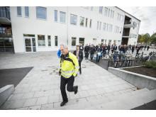 Visning av tekniken i Soldrift Sjöängen av Lars-Göran Karlsson, affärsutvecklare, Vattenfall Eldistribution