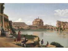 """C.W. Eckersberg: """"Castel St. Angelo""""."""