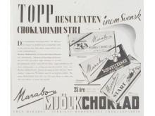 Reklamannons för Marabou Mjölkchoklad, 1940
