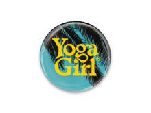 Yoga Girl Palm tree logo pin