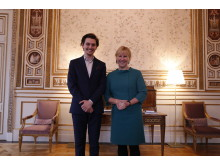 Salim Salamah, director of PLHR-Syria and Swedish Minister of Foreign Affairs Margot Wallström