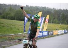 Vinner av K/M 15 og elder – Mixlag Lillehammer Cykleklubb Petter Fagerhaug