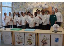 Cookalong på IES Kista tillsammans med mästerkocken Sandra Mastio