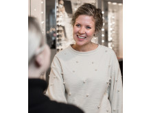 Marthe Nilsson, optiker og butikksjef på Krogh Optikk i Karl Johans gate