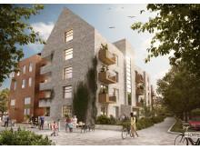 Del av det förslag som FB Bostad nu ska bygga enligt på Campusområdet.