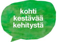 Kohti kestävää kehitystä -logo