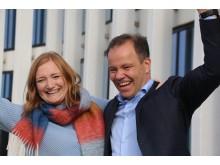 Мэр Будё Ида Пиннерёд и председатель правительства губернии Нурланд Томас Нурволл