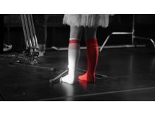 Rocka sockorna rödvita
