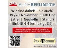 Pax et Bonum Buch Berlin 2016 Wir sind dabei! – Sie auch?