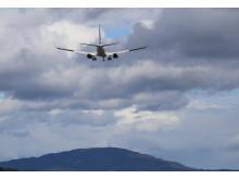 Fly lander ved Oslo Lufthavn