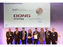 Prisoverrækkelse ved SAP Quality Awards for DONG Energy