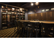 Wine bar at Spedition Hotel, Thun, Switzerland - hotel design by Stylt