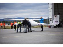 Norges første elektriske flyvning