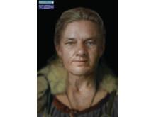 Vikingkvinne, rekonstruksjon av ansikt