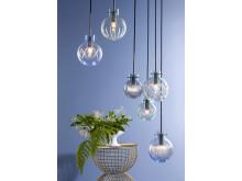 Krystallkule lamper fra Hadeland Glassverk
