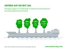 Grüner auf See mit LNG