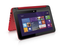 HP Pavilion x360 Right facing red