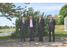 French Ambassador Jacques Lapuoge, Lindab CEO Anders Berg, French Consul Mikael Roos and Regional Director of Business France Gilles Debuire