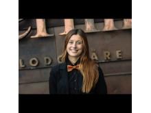 Amanda Evensen, receptionist och DECE-ambassadör på Copperhill Mountain Lodge