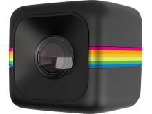 Polaroid Cube, svart snett framifrån