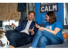 Prince Harry talks to CALM at Heads Together launch, May 2016