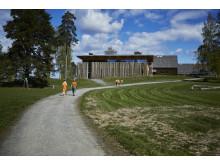 Hegnhuset på Utøya rommer blant annet et læringssenter der ungdommer kan gå på demokrativerksted.