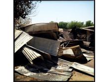 Kylanläggningen på sjukhuset i Leer har förstörts. Bild: Michael Goldfarb.