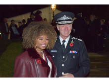Commissioner, Sir Bernard Hogan-Howe with Fleur East