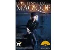 Familjeföreställningen La petit spectacle magique, magi och musik med Malin Nilsson