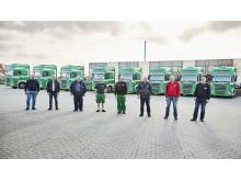 Ni nye Scania Ecolution til ni glade LGT-chauffører