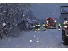 Snevejret tager til i Norge