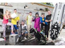 De sju kockarna i Kockarnas Krog visar upp sina favoritsporter. Fr vänster: Frida Ronge, Tom Sjöstedt, Magnus Johansson, Patrik Fredriksson, Christian Hellberg, Fredrik Eriksson, Håkan Thörnström.