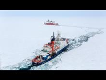 Från isbrytare spårade forskarna näringsämnen i Arktiska havet.