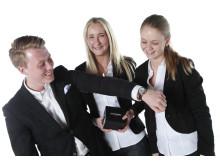 Houseberg UF (egendesignad klocka). Ett UF företag inom Ung Företagsamhet Skåne.