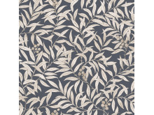 Wallpaper Scandinavia 10x053 m Leaf creeper Dark blue Non-woven