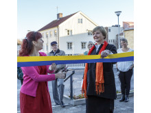 Vivianne Macdisi och Eva Telne inviger akutmottagningen vid Lasarettet i Enköping 24 november 2016