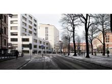 Handelshögskolan i Göteborg, förslag 5: Annex, Från gatan
