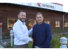 David Dominguez, Country Manager Rototilt SAS and Daniel Thomas, Area Sales Manager