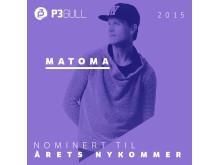Matoma - Årets Nykommer P3 Gull 2015