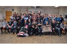 Glada deltagare från Respect All, Competes Hearthstone-läger i Örebro, november 2016