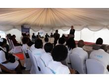 Scandinavian Biopharmas prövningsprogram i Afrika invigdes av Hälsoministeriet i Zambia tillsammans med den Svenska Ambassadören Henrik Cederin