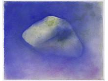 Isak Hall, Utan titel, akvarell och pastellkrita på papper, 2018