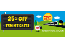 Save 25% on train tickets with London Midland