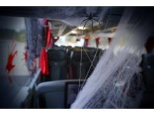 Spindelnät på bussen