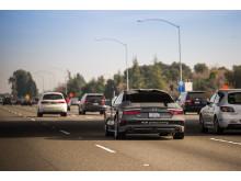 Førerløs Audi A7 på trafikeret offentlig vej - på vej til Las Vegas og CES 2015