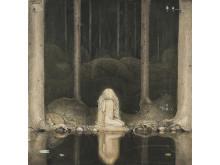 John Bauer, Ännu sitter Tuvstarr kvar och ser ner i vattnet, 1913.